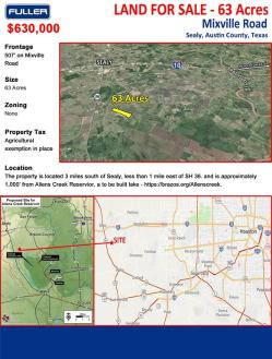 Local Real Estate: Land for Sale — Sealy, TX — Coldwell Banker
